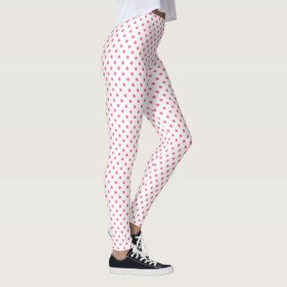 Cute Pink Polkadots Pattern Leggings