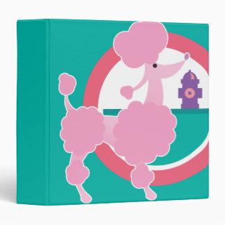 cute pink poodle notebook vinyl binder