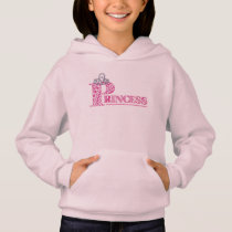 Cute Pink Princess Word Art Hoodie