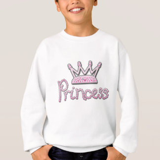 Cute Pink Printed Pearls Princess Crown Sweatshirt