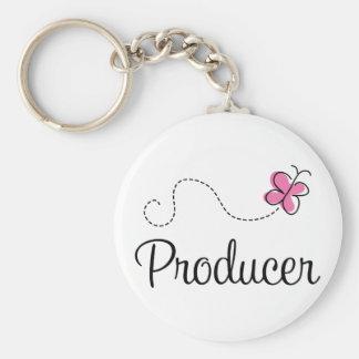 Cute Pink Producer Keychain