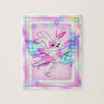 Cute Pink Puppy Fairy Stuffed Animal Puzzle