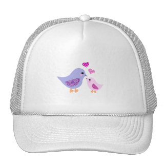 Cute pink & purple mother and child birds hats