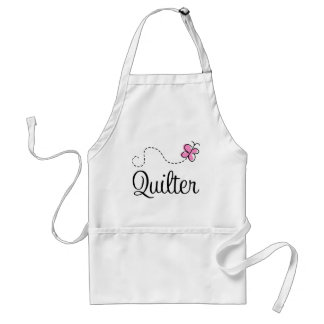 Cute Pink Quilter Gift Adult Apron