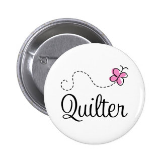 Cute Pink Quilter Gift Button