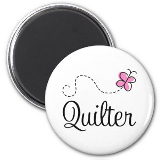 Cute Pink Quilter Gift Fridge Magnets