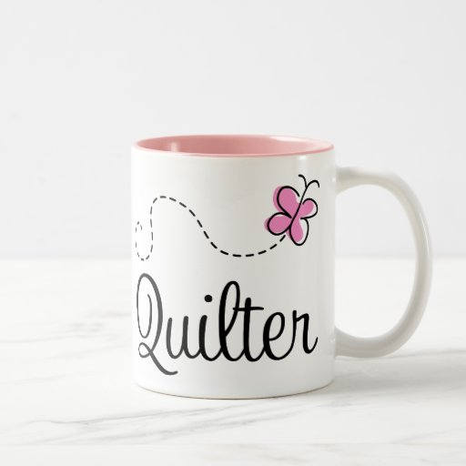 Cute Pink Quilter Gift Mugs