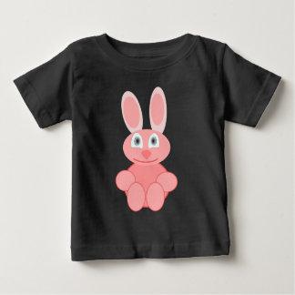 CUTE PINK RABBIT Baby Fine Jersey T-Shirt