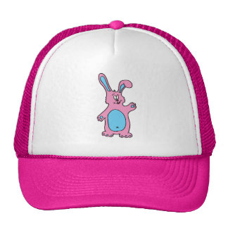 cute pink rabbit cap trucker hat