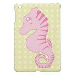 Cute Pink Seahorse iPad Mini Cases