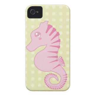 Cute Pink Seahorse iPhone 4 Case