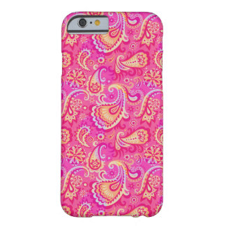 Cute pink seamless paisley look barely there iPhone 6 case