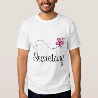 Cute Pink Secretary Tee Shirt
