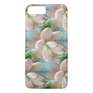 Cute Pink Sedum Succulent Jelly Bean Leaves iPhone 8 Plus/7 Plus Case