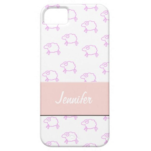 Cute Pink Sheep iPhone 5 Cover