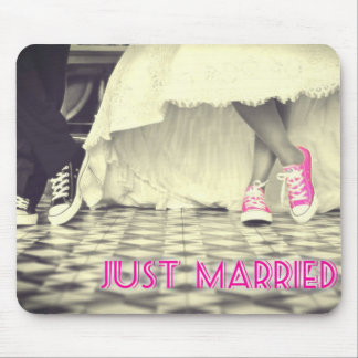 Cute Pink Shoes Just Married Mouse Pad