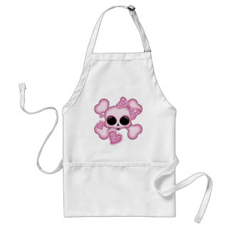 Cute Pink Skull Adult Apron