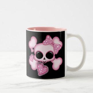 Cute Pink Skull Mug