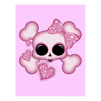 Cute Pink Skull Postcards