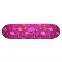 Cute Pink Skulls & Cupcakes Skateboard