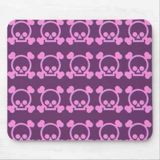 Cute Pink Skulls Mouse Pad