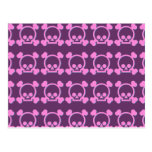 Cute Pink Skulls Post Card