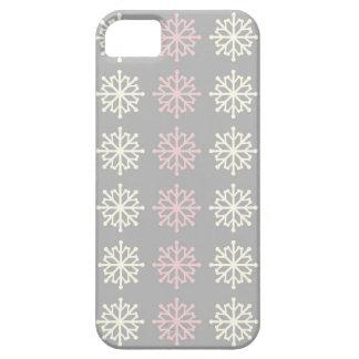 Cute Pink Snowflake Winter iPhone 5 Case