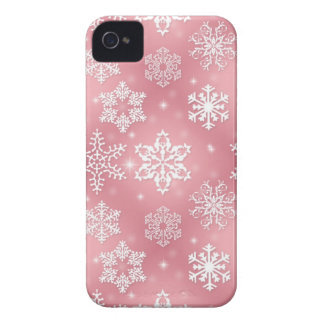 Cute Pink Snowflakes iPhone 4 Case-Mate Case