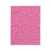 pink Soccer football ball Pattern Fleece Blanket
