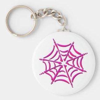 Cute Pink Spider Web Keychain