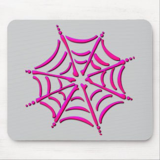 Cute Pink Spider Web Mouse Pad