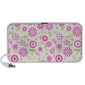Cute pink spring flowers portable speakers