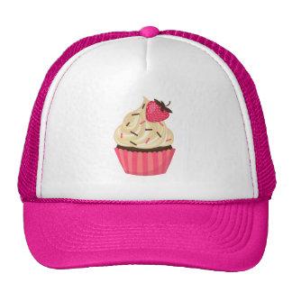 Cute Pink Sprinkles Strawberry Cupcake Trucker Hat