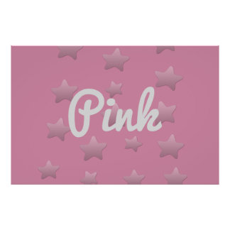Cute Pink Stars Poster