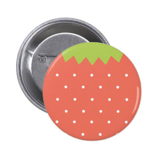 Cute Pink Strawberry Button