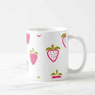 Cute pink strawberry coffee mug