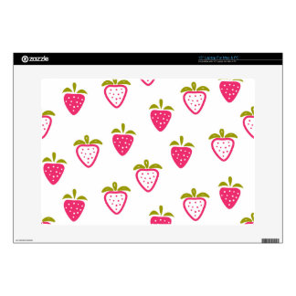 Cute pink strawberry laptop decals