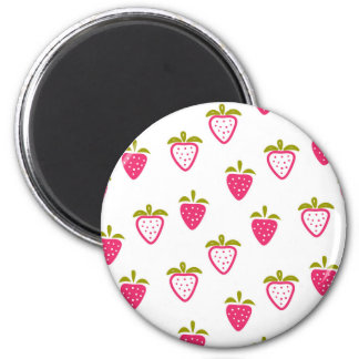 Cute pink strawberry magnet