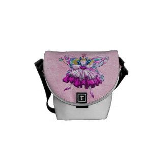 Cute Pink Sugar Plum Fairy Messenger Bag