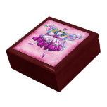 Cute Pink Sugar Plum Fairy Printed Jewel Effect Jewelry Box