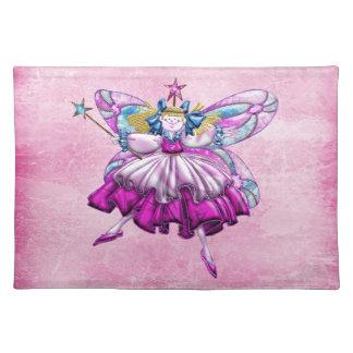 Cute Pink Sugar Plum Fairy Printed Jewel Placemat