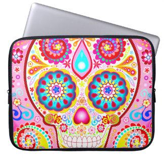 Cute Pink Sugar Skull Laptop Sleeve Computer Sleeve