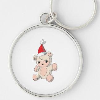 Cute Pink Teddy Bear Red Santa Hat Watch Bag Caps Keychains