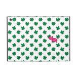 Cute pink tiger green shamrocks iPad mini covers