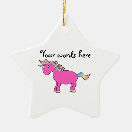 Cute pink unicorn ornaments