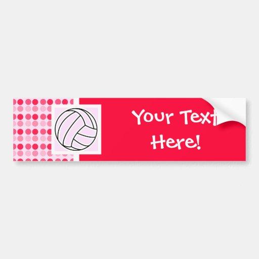 Cute Pink Volleyball Bumper Sticker