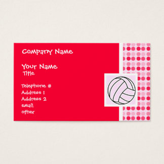 Cute Pink Volleyball Business Card