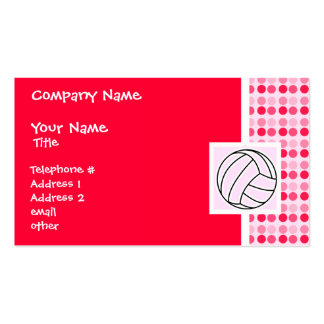 Cute Pink Volleyball Double-Sided Standard Business Cards (Pack Of 100)