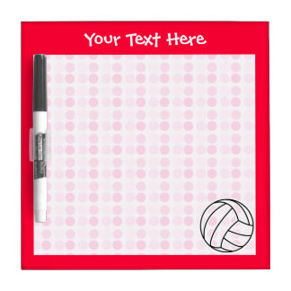 Cute Pink Volleyball Dry-Erase Board