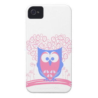 Cute Pink Whimsical Owl Blackberry Bold case